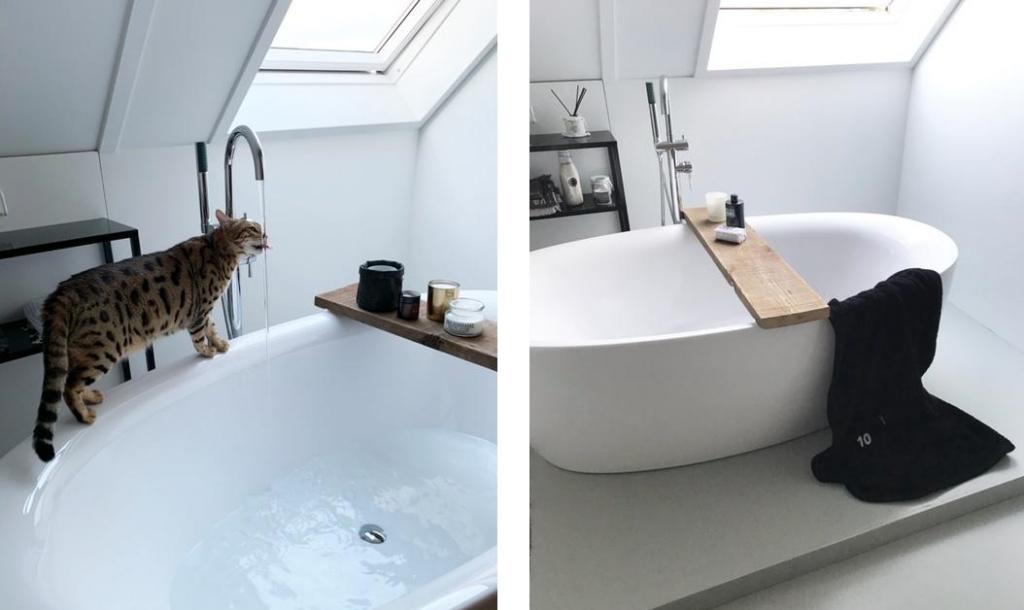 vrij staand bad